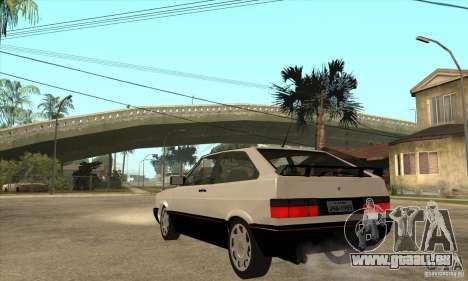 VW Gol GTS 1989 pour GTA San Andreas sur la vue arrière gauche