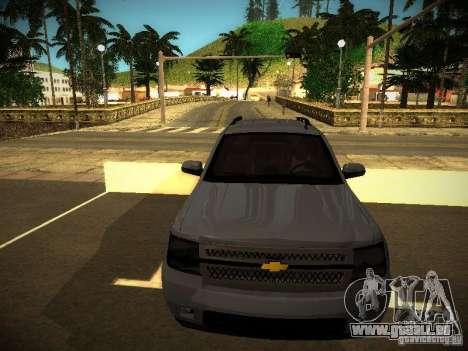 Chevrolet Tahoe HD Rimz pour GTA San Andreas laissé vue