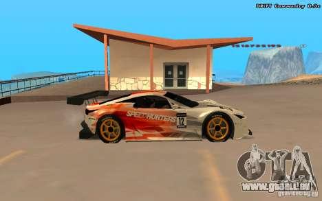 Lexus LFA Speedhunters Edition pour GTA San Andreas vue arrière