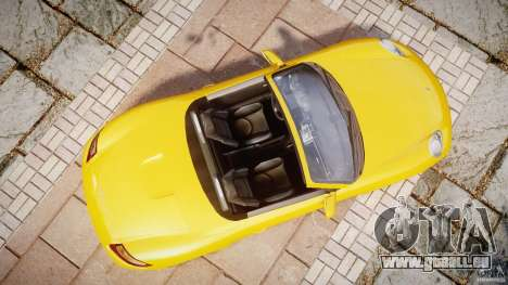Porsche Boxster S pour GTA 4 est un droit
