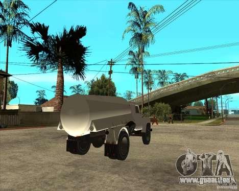 LKW GAZ-52-Kraftstoff für GTA San Andreas zurück linke Ansicht
