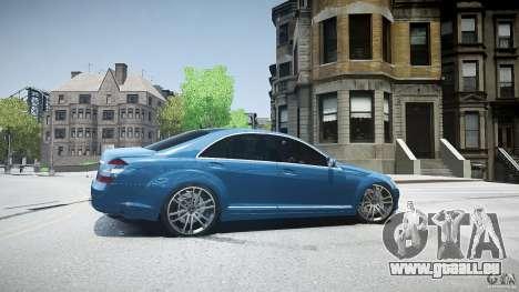 Mercedes Benz w221 s500 v1.0 sl 65 amg wheels für GTA 4 linke Ansicht