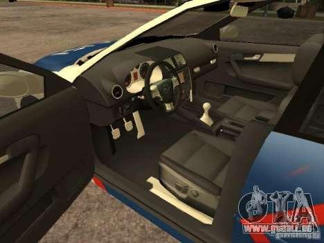 Mazda 6 Police Indonesia für GTA San Andreas zurück linke Ansicht