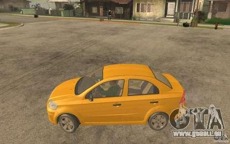 Chevrolet Aveo 2007 final pour GTA San Andreas laissé vue