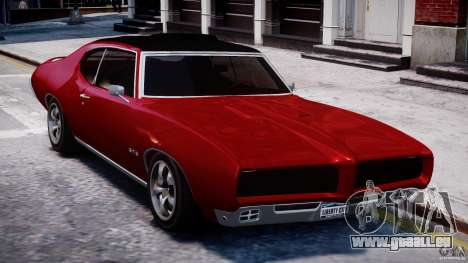 Pontiac GTO 1965 v1.1 pour GTA 4 Vue arrière