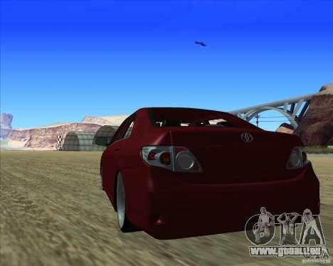 Toyota Corolla 2008 Tuning für GTA San Andreas rechten Ansicht