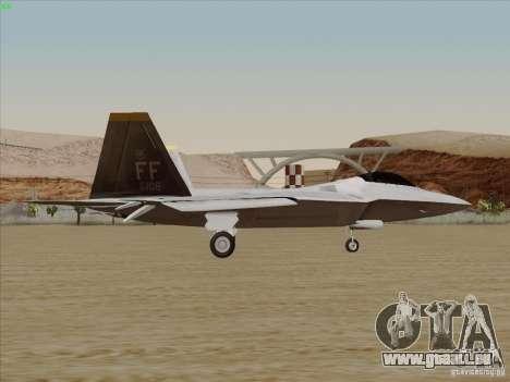 FA22 Raptor pour GTA San Andreas laissé vue