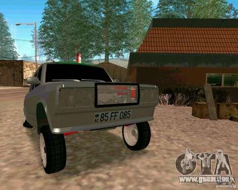 VAZ 2107 complet pour GTA San Andreas vue arrière