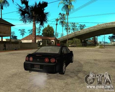 2003 Chevrolet Impala SS pour GTA San Andreas sur la vue arrière gauche