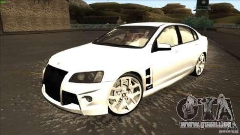 Holden HSV W427 pour GTA San Andreas laissé vue