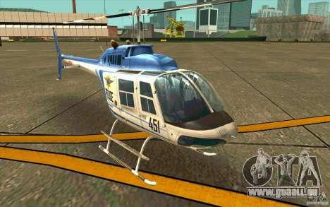 Bell 206 B Police texture1 pour GTA San Andreas laissé vue