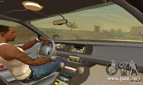 Ford Crown Victoria New Jersey Police für GTA San Andreas zurück linke Ansicht