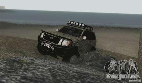 Toyota Land Cruiser 100 Off Road pour GTA San Andreas vue de côté