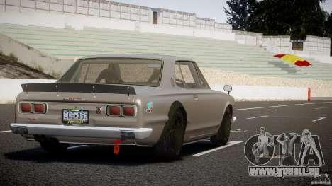 Nissan Skyline Hakosuka (KPGC10) Mountain Drift für GTA 4 obere Ansicht