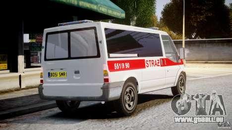 Ford Transit Polish Firetruck [ELS] pour GTA 4 est une vue de l'intérieur