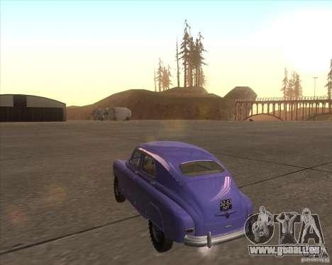 GAZ M72 pour GTA San Andreas sur la vue arrière gauche