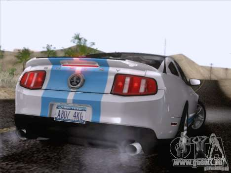 Ford Shelby Mustang GT500 2010 pour GTA San Andreas moteur