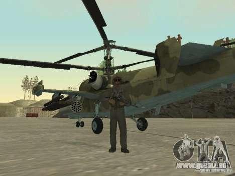 KA-50 Black Shark pour GTA San Andreas sur la vue arrière gauche