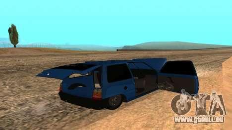 VAZ 1111 Oka pour GTA San Andreas vue de dessous