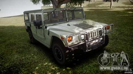 Hummer H1 Original pour GTA 4 est une vue de l'intérieur