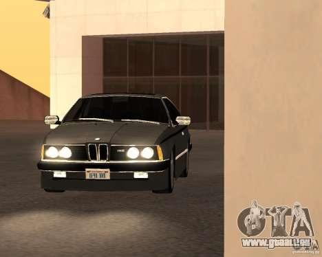 BMW M6 E24 pour GTA San Andreas vue arrière