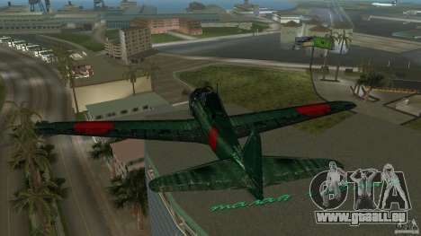 Zero Fighter Plane für GTA Vice City Seitenansicht