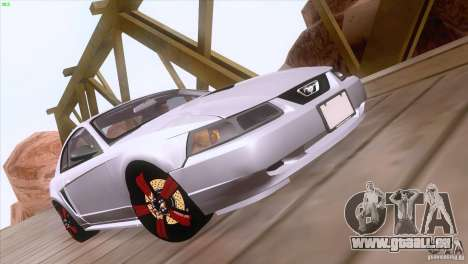 Ford Mustang GT 1999 für GTA San Andreas obere Ansicht