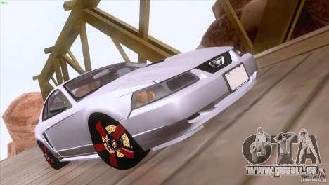 Ford Mustang GT 1999 pour GTA San Andreas vue de dessus