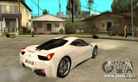 Ferrari 458 Italia 2010 v2.0 für GTA San Andreas rechten Ansicht