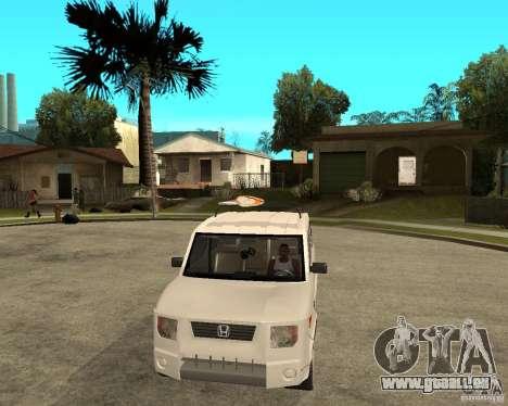 Honda Element für GTA San Andreas Rückansicht
