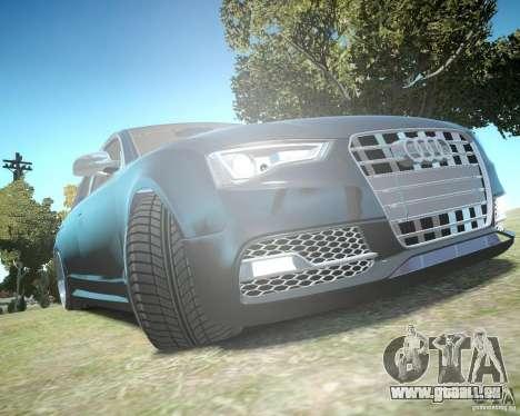 Audi A6 Avant Stanced pour GTA 4 vue de dessus