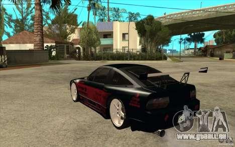 Nissan 180SX - Koguchi Power für GTA San Andreas zurück linke Ansicht