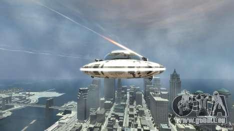 UFO ufo textured für GTA 4 Rückansicht