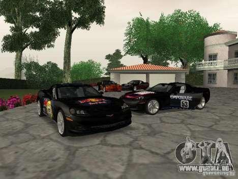 Chevrolet Corvette (C6) pour GTA San Andreas vue de côté