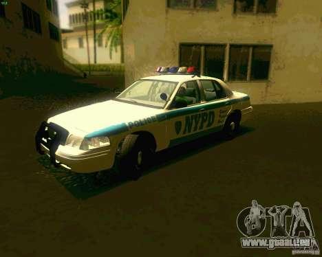 Ford Crown Victoria 2003 NYPD police pour GTA San Andreas laissé vue