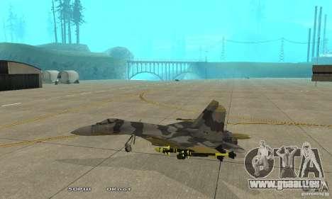 Su-37 Terminator pour GTA San Andreas laissé vue