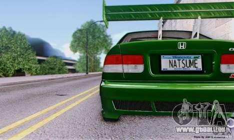 Honda Civic Si Sporty pour GTA San Andreas vue de droite