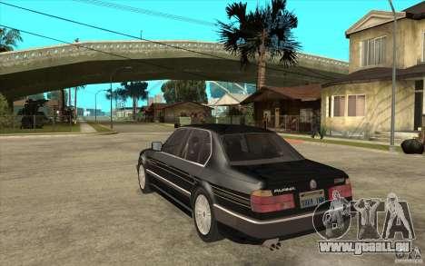 BMW E32 7-er Alpina B12 pour GTA San Andreas vue de droite