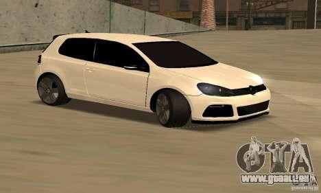 Volkswagen Golf R Modifiye für GTA San Andreas linke Ansicht