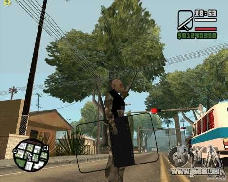 Bouclier armure de Call of Duty Modern Warfare 2 pour GTA San Andreas deuxième écran