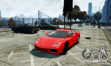 Ferrari 360 modena für GTA 4 linke Ansicht