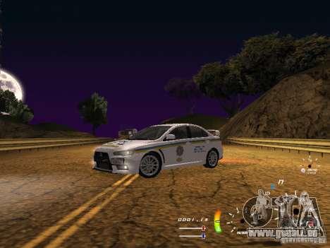 Mitsubishi Lancer Evolution X DPS pour GTA San Andreas