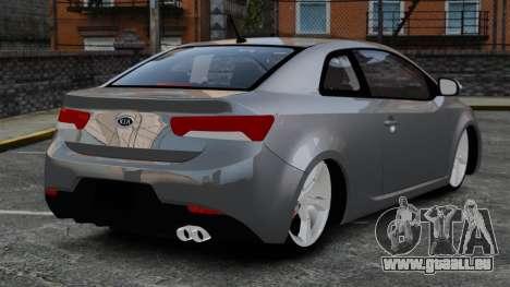 Kia Cerato Koup Edit pour GTA 4 Vue arrière de la gauche