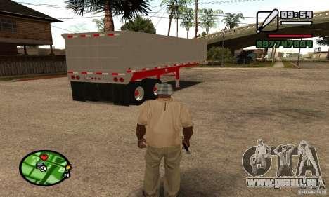 Artict3 Dump Trailer für GTA San Andreas Rückansicht