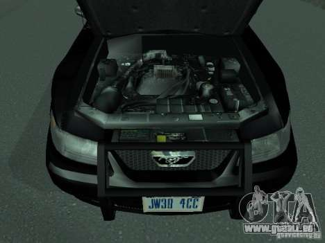 Ford Mustang GT Police pour GTA San Andreas vue de droite