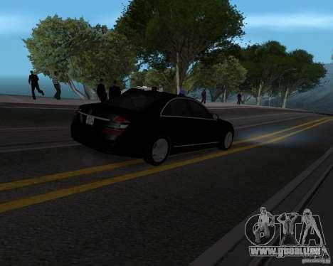 Mercedes Benz S500 w221 SE pour GTA San Andreas laissé vue