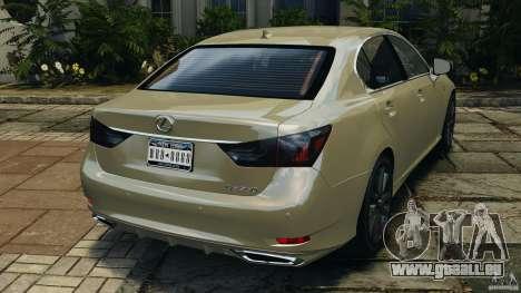 Lexus GS350 2013 v1.0 pour GTA 4 Vue arrière de la gauche