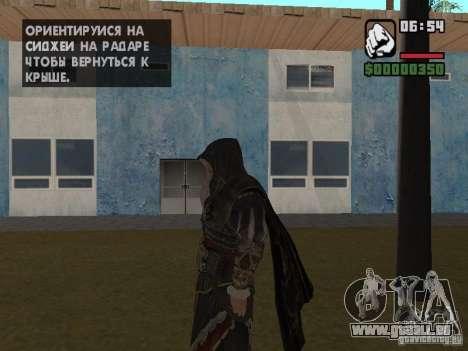 Ezio Auditores in Rüstung von Altair für GTA San Andreas zweiten Screenshot
