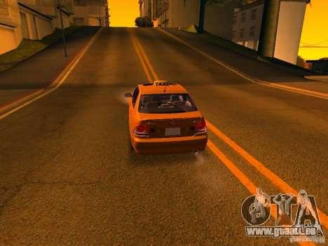 Lexus IS300 Taxi für GTA San Andreas Unteransicht