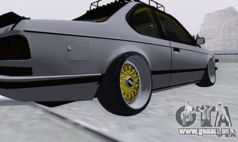 BMW M635CSi Stanced für GTA San Andreas zurück linke Ansicht